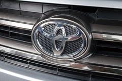 Vinnitsa, de Oekraïne - Januari 10, 2018 Toyota-Hooglanderconcept Royalty-vrije Stock Fotografie