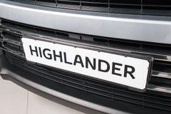 Vinnitsa, de Oekraïne - Januari 10, 2018 Toyota-Hooglanderconcept Stock Afbeeldingen