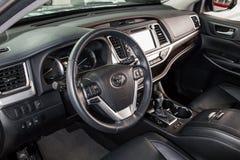 Vinnitsa, de Oekraïne - Januari 10, 2018 Toyota-Hooglanderconcept Stock Afbeelding