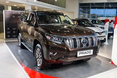 Vinnitsa, de Oekraïne - Januari 10, 2018 Toyota-Landcruise Prado c Royalty-vrije Stock Foto's