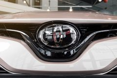 Vinnitsa, de Oekraïne - Maart 18, 2018 Toyota Camry-conceptenauto - l Royalty-vrije Stock Afbeelding