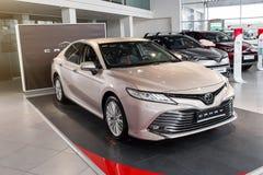Vinnitsa, de Oekraïne - Maart 18, 2018 Toyota Camry-conceptenauto - p Stock Foto
