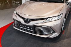 Vinnitsa, de Oekraïne - Maart 18, 2018 Toyota Camry-conceptenauto - p Stock Foto's