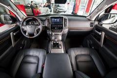 Vinnitsa, de Oekraïne - Maart 18, 2018 Toyota-het concept van de Landkruiser Stock Foto