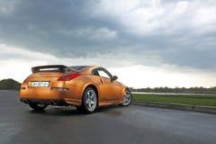 Vinnitsa, Ucrânia - 24 de abril de 2012 Carro do conceito de Nissan 350Z esporte Imagens de Stock Royalty Free