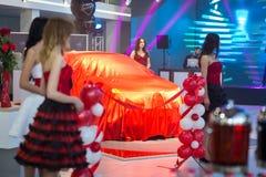 Vinnitsa, Ucrânia - 16 de dezembro de 2016 Carro do conceito de Toyota C-HR A Imagens de Stock Royalty Free