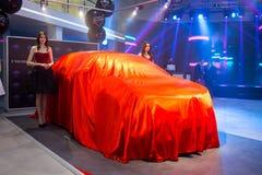Vinnitsa, Ucrânia - 16 de dezembro de 2016 Carro do conceito de Toyota C-HR A Fotos de Stock