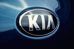 Vinnitsa, Ucrânia - 19 de fevereiro de 2017 Carro do conceito de KIA Niro front Fotos de Stock