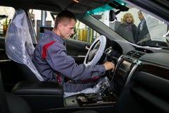 Vinnitsa, Ucrânia - 23 de outubro de 2016 Centro de serviço de Toyota, carro Imagens de Stock Royalty Free
