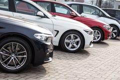 Vinnitsa, Ucraina - 31 marzo 2018 Presentati automobilistico di concetto di BMW Immagine Stock Libera da Diritti