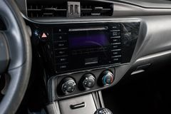 Vinnitsa Ukraina - Januari 10, 2018 Toyota Corolla begreppsbil Arkivfoton