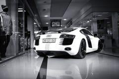 Vinnitsa Ukraina - November 11, 2012 Audi R8 begreppsbil Audi s Royaltyfria Bilder
