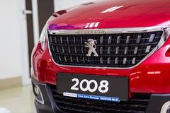 Vinnitsa Ukraina - Oktober 22, 2016 Peugeot begreppsbil 2008 pe Fotografering för Bildbyråer