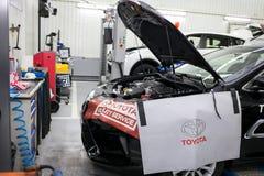 Vinnitsa Ukraina - Oktober 23, 2016 Toyota tjänste- mitt, bil Fotografering för Bildbyråer
