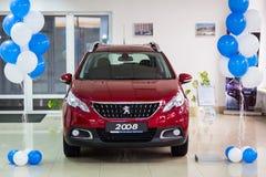 Vinnitsa Ukraina, Październik, - 22, 2016 Peugeot pojęcia 2008 samochód pe Obrazy Stock