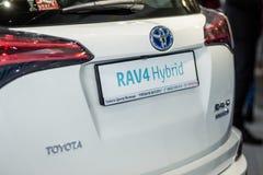 Vinnitsa Ukraina, Październik, - 10, 2017 Toyota RAV 4 hybrydu concep zdjęcie stock