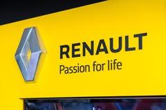 Vinnitsa, Ukraine - 20. April 2018 Firmenzeichen von Renault-dealersh Lizenzfreies Stockbild