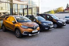Vinnitsa, Ukraine - 20. April 2018 Motor- Renault-Konzept presen Lizenzfreies Stockfoto
