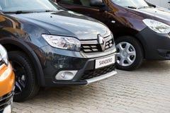 Vinnitsa, Ukraine - 20. April 2018 Motor- Renault-Konzept presen Lizenzfreie Stockfotos