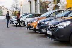 Vinnitsa, Ukraine - 20. April 2018 Motor- Renault-Konzept presen Lizenzfreie Stockbilder