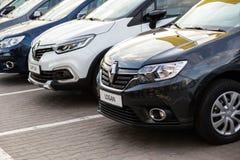Vinnitsa, Ukraine - 20. April 2018 Motor- Renault-Konzept presen Lizenzfreie Stockfotografie