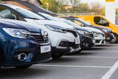 Vinnitsa, Ukraine - 20. April 2018 Motor- Renault-Konzept presen Stockbilder