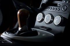 Vinnitsa, Ukraine - April 24, 2012.Nissan 350Z concept car.Sport. Car. Photosession,inside the car salon,speedometer, gear box Stock Images