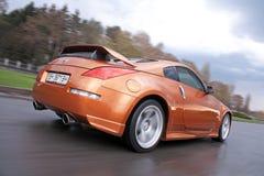 Vinnitsa, Ukraine - April 24, 2012.Nissan 350Z concept car.Sport. Car. Photosession,Nissan concept car, logo Nissan Stock Images