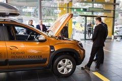 Vinnitsa, Ukraine - 20. April 2018 Renault-STAUBTUCH-Konzeptauto Lizenzfreie Stockbilder
