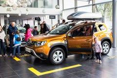 Vinnitsa, Ukraine - 20. April 2018 Renault-STAUBTUCH-Konzeptauto Lizenzfreie Stockfotografie