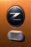 Vinnitsa, Ukraine - 24 avril 2012 Voiture de concept de Logo Nissan 350Z Photo libre de droits