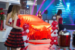 Vinnitsa, Ukraine - December 16, 2016.Toyota C-HR concept car.To. Yota showroom.Presentation.Opening of the new Toyota showroom in Vinnitsa, Ukraine Royalty Free Stock Images