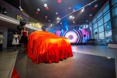 Vinnitsa, Ukraine - December 16, 2016.Toyota C-HR concept car.To. Yota showroom.Presentation.Opening of the new Toyota showroom in Vinnitsa, Ukraine Royalty Free Stock Image