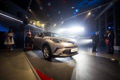 Vinnitsa, Ukraine - December 16, 2016.Toyota C-HR concept car.To. Yota showroom.Presentation.Opening of the new Toyota showroom in Vinnitsa, Ukraine Stock Photo