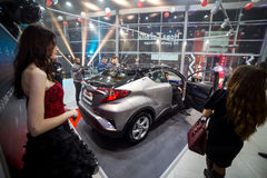 Vinnitsa, Ukraine - December 16, 2016.Toyota C-HR concept car.To. Yota showroom.Presentation.Opening of the new Toyota showroom in Vinnitsa, Ukraine Stock Images