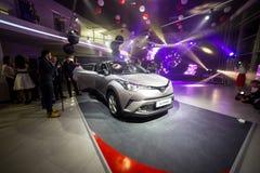 Vinnitsa, Ukraine - December 16, 2016.Toyota C-HR concept car.To. Yota showroom.Presentation.Opening of the new Toyota showroom in Vinnitsa, Ukraine Stock Photos