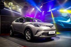 Vinnitsa, Ukraine - December 16, 2016.Toyota C-HR concept car.To. Yota showroom.Presentation.Opening of the new Toyota showroom in Vinnitsa, Ukraine Stock Image