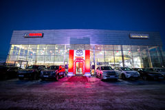 Vinnitsa, Ukraine - December 16, 2016.Toyota C-HR concept car.To. Yota showroom.Presentation.Opening of the new Toyota showroom in Vinnitsa, Ukraine Royalty Free Stock Photography