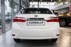 Vinnitsa, Ukraine - January 10, 2018. Toyota Corolla concept car. Back view Stock Photography