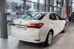 Vinnitsa, Ukraine - January 10, 2018. Toyota Corolla concept car. Back view Royalty Free Stock Photo