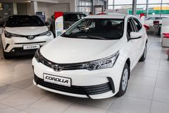 Vinnitsa, Ukraine - January 10, 2018. Toyota Corolla concept car. Front view Stock Photo