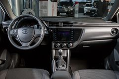 Vinnitsa, Ukraine - January 10, 2018. Toyota Corolla concept car. Interior inside salon Royalty Free Stock Photos