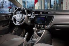 Vinnitsa, Ukraine - January 10, 2018. Toyota Corolla concept car. Interior inside salon Royalty Free Stock Image