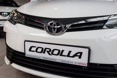 Vinnitsa, Ukraine - January 10, 2018. Toyota Corolla concept car. Logo Royalty Free Stock Image