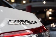 Vinnitsa, Ukraine - January 10, 2018. Toyota Corolla concept car. Logo Stock Photos
