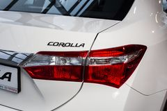 Vinnitsa, Ukraine - January 10, 2018. Toyota Corolla concept car. Taillight Royalty Free Stock Image