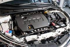 Vinnitsa, Ukraine - January 10, 2018. Toyota Corolla concept car. Under the hood Stock Photography
