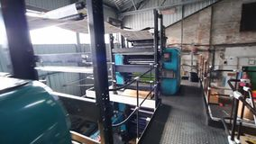 Printing house. Newspaper factory. stock video