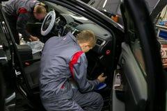 Vinnitsa, Ukraine - October 23, 2016.Toyota service center, car. Maintenance, car diagnostics Royalty Free Stock Photography