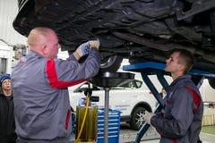 Vinnitsa, Ukraine - 23 octobre 2016 Centre de service de Toyota, voiture Images stock